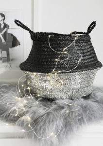 Kosz BLACK/SILVER SEQUIN
